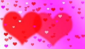 Fondo de las tarjetas del día de San Valentín del corazón. Imágenes de archivo libres de regalías