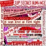 Fondo de las tarjetas del día de San Valentín Imagen de archivo libre de regalías