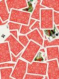 Fondo de las tarjetas que juegan Foto de archivo libre de regalías