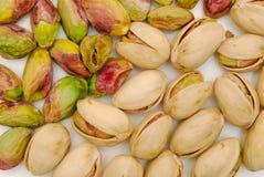 Fondo de las tuercas de pistacho Fotografía de archivo
