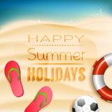 Fondo de las vacaciones de verano Fotos de archivo