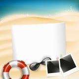 Fondo de las vacaciones de verano Imágenes de archivo libres de regalías