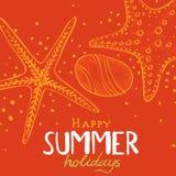 Fondo de las vacaciones de verano ilustración del vector