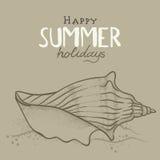 Fondo de las vacaciones de verano stock de ilustración