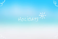 Fondo de las vacaciones de verano Imagen de archivo libre de regalías