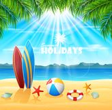 Fondo de las vacaciones de verano imagen de archivo