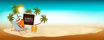 Fondo de las vacaciones de verano Memorias de las vacaciones stock de ilustración