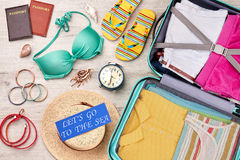 Fondo de las vacaciones de verano, superficie gris Fotografía de archivo libre de regalías