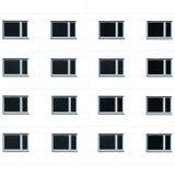 Fondo de las ventanas del edificio residencial Imagen de archivo libre de regalías