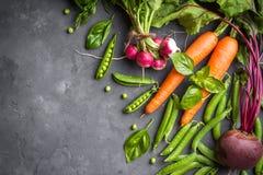 Fondo de las verduras frescas Fotos de archivo libres de regalías