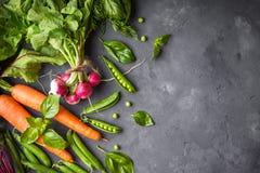 Fondo de las verduras frescas Imágenes de archivo libres de regalías