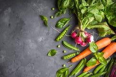 Fondo de las verduras frescas Foto de archivo