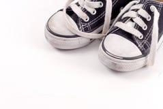 Fondo de las zapatillas de deporte del niño Fotografía de archivo