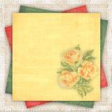 Fondo de lino con un papel multicolor Imagen de archivo libre de regalías
