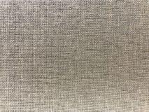 Fondo de lino rayado de la textura del saco en marrón Fotografía de archivo libre de regalías