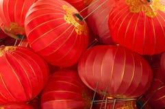 Fondo de linternas rojas chinas Fotos de archivo