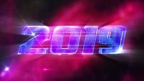 Fondo 2019 de Loopable del Año Nuevo stock de ilustración