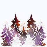 Fondo de los árboles de navidad con el espacio para el texto ilustración del vector