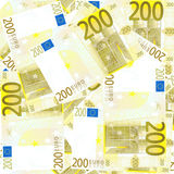 Fondo de los 200 euros inconsútil Foto de archivo