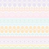 Fondo de los ajustes coloridos del cordón Fotos de archivo