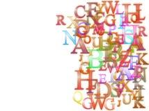 Fondo de los alfabetos Imágenes de archivo libres de regalías