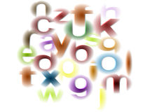 Fondo de los alfabetos Imagen de archivo libre de regalías