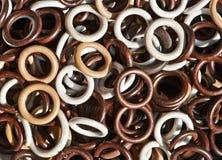 Fondo de los anillos para las cortinas Fotografía de archivo libre de regalías