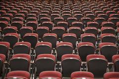 Fondo de los asientos del auditorio Imágenes de archivo libres de regalías