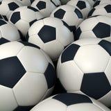 Fondo de los balones de fútbol fotografía de archivo