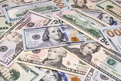 Fondo de los billetes de banco del dólar Fotografía de archivo