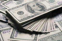 Fondo de los billetes de banco del dólar Foto de archivo