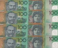 Fondo de los billetes de banco Foto de archivo libre de regalías