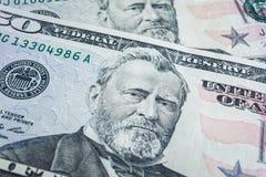 Fondo de los billetes de banco, dólar americano, th financiero del azul del concepto Imagenes de archivo