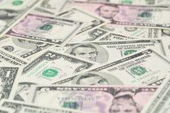 Fondo de los billetes de banco del dólar. Fotografía de archivo libre de regalías