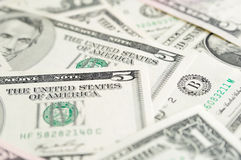Fondo de los billetes de banco del dólar. Fotos de archivo libres de regalías