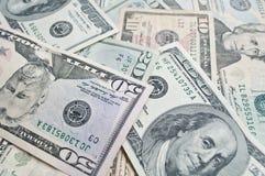 Fondo de los billetes de banco del dólar Imágenes de archivo libres de regalías