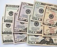 Fondo de los billetes de banco del dólar Imagen de archivo libre de regalías
