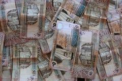Fondo de los billetes de banco del dinar jordano Foto de archivo libre de regalías