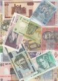 Fondo de los billetes de banco europeos Imagen de archivo
