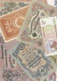 Fondo de los billetes de banco rusos Fotos de archivo