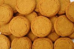 Fondo de los biscuts de la nuez del jengibre Imagen de archivo