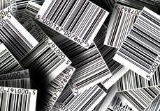 Fondo de los códigos de barras Foto de archivo libre de regalías