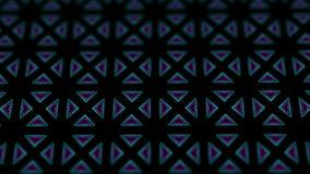 Fondo de los caleidoscopios del disco con las líneas coloridas de neón que brillan intensamente animadas y las formas geométricas stock de ilustración