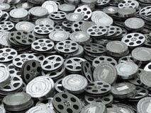 Fondo de los carretes del vídeo de la película Filma la colección ilustración del vector