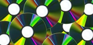 Fondo de los Cdes/de DVDs Fotografía de archivo libre de regalías