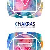Fondo de los chakras de la acuarela Fotografía de archivo