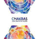 Fondo de los chakras de la acuarela Imagen de archivo
