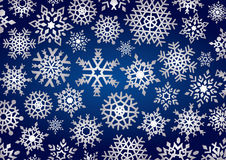 Fondo de los copos de nieve Foto de archivo