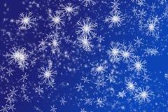 Fondo de los copos de nieve stock de ilustración