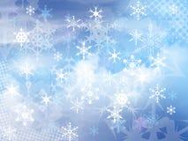 Fondo de los copos de nieve Foto de archivo libre de regalías